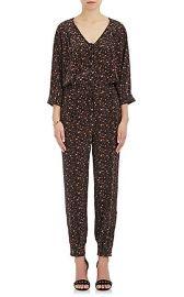 Saint Phalle Leopard-Print Silk Jumpsuit  at Barneys