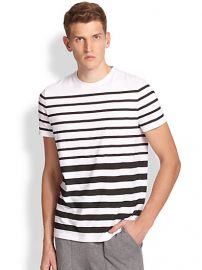 Saks Fifth Avenue Collection - Modern-Fit Stretch Cotton Stripe Tee at Saks Fifth Avenue