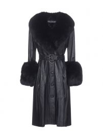 Saks Potts Foxy Belted Coat at Cettire