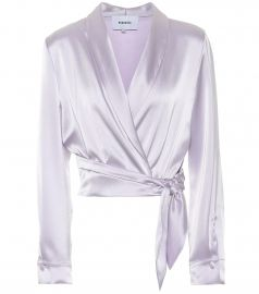 Salome satin top at Mytheresa