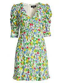 Saloni - Colette Floral Mini Dress at Saks Fifth Avenue