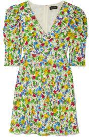 Saloni - Colette floral-print crepe de chine mini dress at Net A Porter
