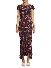Saloni - Daphne Floral Silk Maxi Dress at Saks Off 5th