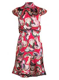 Saloni - Phoebe Print Dress at Saks Fifth Avenue