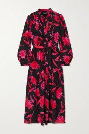 Saloni - Remi floral-print silk crepe de chine midi dress at Net A Porter