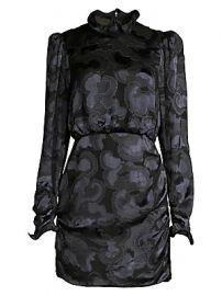 Saloni - Rina B Tonal Print Dress at Saks Fifth Avenue