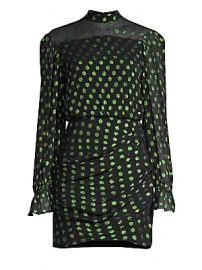 Saloni - Rina Metallic Polka Dot Mini Sheath Dress at Saks Fifth Avenue
