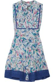 Saloni   Tilly printed silk crepe de chine mini dress at Net A Porter