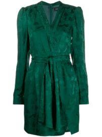 Saloni Bibi wrap silk dress at Farfetch