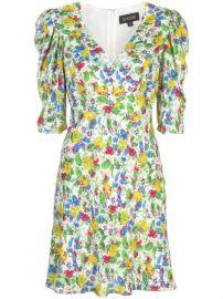 Saloni Colette Floral Print Dress - Farfetch at Farfetch