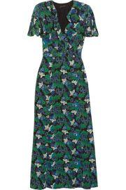 Saloni Josee printed silk-crepe maxi dress at Net A Porter