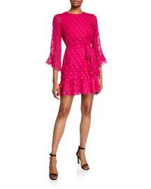 Saloni Marissa B Polka Dot Mini Dress at Neiman Marcus
