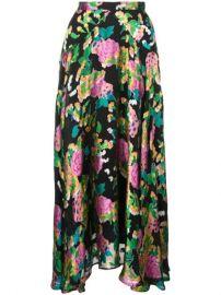 Saloni Midi Pleated Skirt - Farfetch at Farfetch