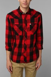 Salt Valley Buffalo Plaid Western Shirt at Urban Outiftters