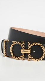 Salvatore Ferragamo New Gancini Torchon Belt at Shopbop