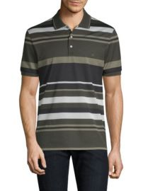 Salvatore Ferragamo Striped Pique Polo at Saks Fifth Avenue