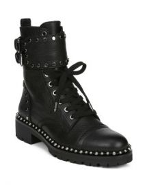 Sam Edelman Women  x27 s Jennifer Studded Leather Combat Booties Shoes - Bloomingdale s at Bloomingdales