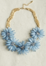 Same necklace in blue at Ruche