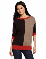 Same sweater in orange and brown at Amazon