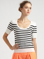 Same top in white and black at Saks Fifth Avenue
