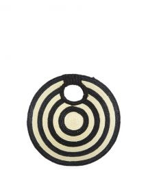 San Diego Hat Company Circular Woven Straw Clutch Bag at Last Call