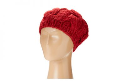 San Diego Hat Company KNH3228 Cable Knit Beret Red at Zappos