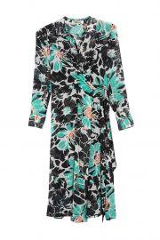 Sana Floral Swiss Dot Wrap Midi Dress by Diane von Furstenberg at Nordstrom Rack