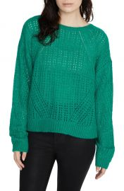 Sanctuary Hole in One Pointelle Sweater   Nordstrom at Nordstrom