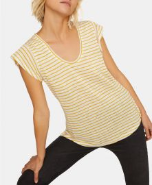 Sanctuary Ruby Striped Scoop-Neck Linen T-Shirt    Reviews - Tops - Juniors - Macy s at Macys