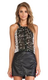 Sanctuary Collage Tank in Feather Spots  amp  Green from Revolve com at Revolve