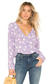 Sanctuary Jules Ruffle Wrap Blouse in Hello Spring from Revolve com at Revolve