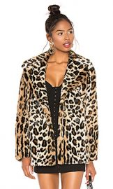 Sanctuary Seeing Spots Faux Fur Coat in Leopard from Revolve com at Revolve