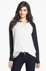 Sanctuary Two Tone Shirt at Nordstrom