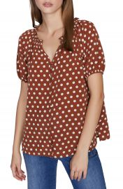Sanctuary Westside Puff Sleeve Button Front Top  Regular  amp  Petite    Nordstrom at Nordstrom