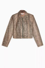 Sand Snake Print Zip Fitted Jacket by Topshop  at Topshop