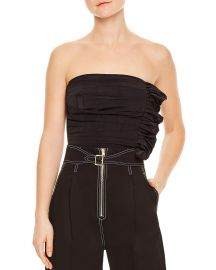 Sandro Britany Strapless Ruched Cropped Top at Bloomingdales