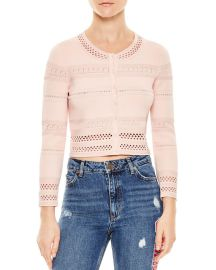 Sandro Eglantine Eyelet-Detail Sweater Women - Bloomingdale s at Bloomingdales