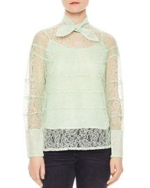 Sandro Izzie Lace Top at Bloomingdales