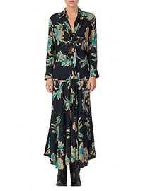 Sandro - Blaire Floral Knotted Midi Dress at Saks Fifth Avenue