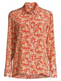 Sandro - Lanni Paisley-Print Western Shirt at Saks Fifth Avenue