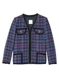 Sandro - Liman Piping Tweed Jacket at Saks Fifth Avenue