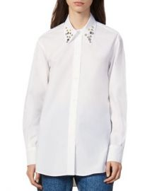 Sandro Anji Embellished Button-Down Shirt Women - Bloomingdale s at Bloomingdales