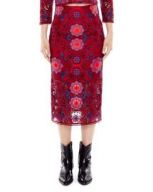 Sandro Calla Medallion Lace Midi Skirt at Bloomingdales