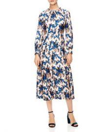 Sandro Carna Silk Midi Dress Women - Bloomingdale s at Bloomingdales