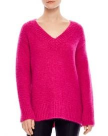 Sandro Carolina Oversized V-Neck Sweater Women - Bloomingdale s at Bloomingdales
