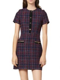 Sandro Chela Tweed Mini Dress Women - Bloomingdale s at Bloomingdales