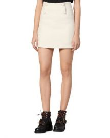 Sandro Dayna Button-Front Tweed Mini Skirt Women - Bloomingdale s at Bloomingdales