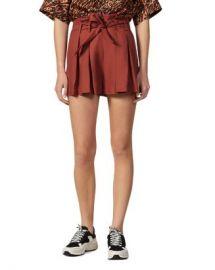 Sandro Eddi Pleated Paperbag-Waist Mini Shorts  Women - Bloomingdale s at Bloomingdales