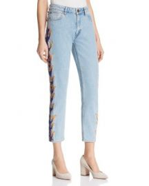 Sandro Flame Cropped Jeans at Bloomingdales