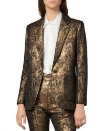 Sandro Floral Brocade Notch Lapel Blazer Women - Bloomingdale s at Bloomingdales